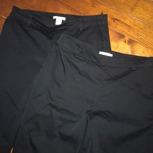 2 pairs of Black dress pants/slacks